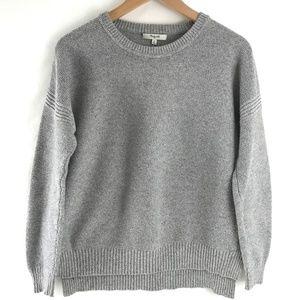 EUC Madewell Cotton Heather Gray Sweater Sz M